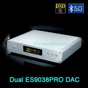 DUAL ES9038PRO USB DSD DAC OLED Display Bluetooth5.0 APTX-HD TALEMA Transformer