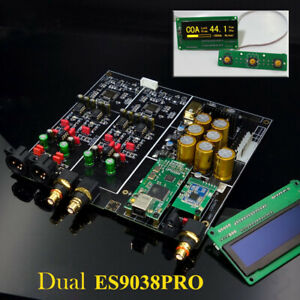 Remote Dual ES9038PRO DAC board + OLED display USB COAX OPT Bluetooth L16-35